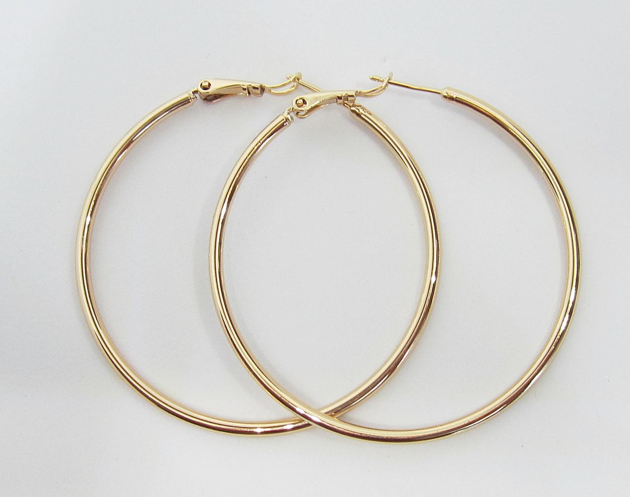 Серьги кольца Xuping Диаметр - 5 см