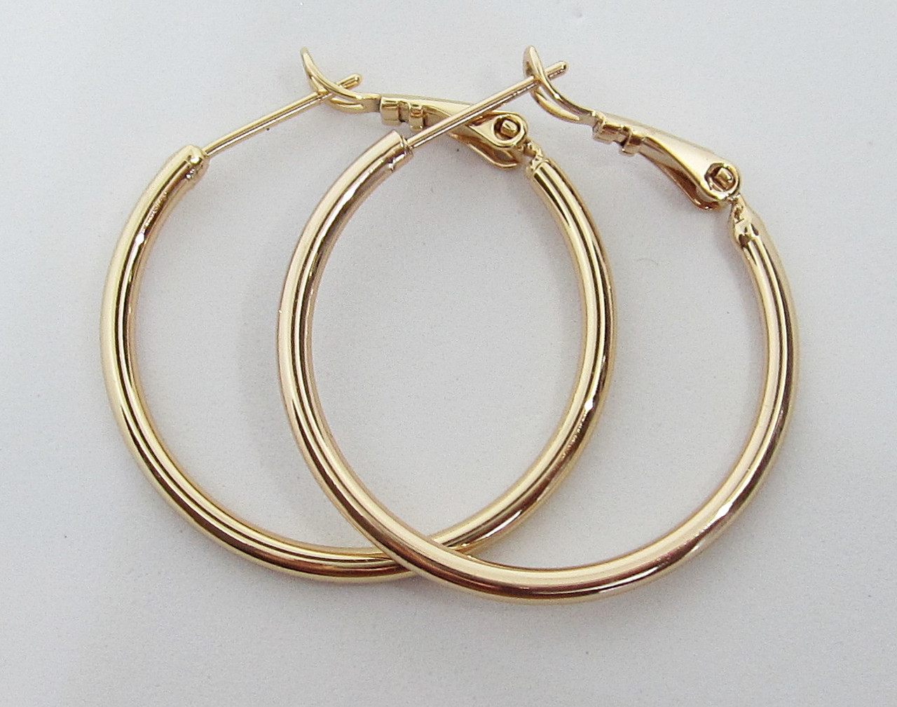 Серьги кольца Xuping Диаметр - 2.8 см