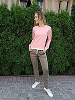 Стильный женский спортивный костюм свитшот+ брюки с лампасами