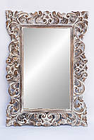 Зеркало в Ajur 100х70 см, коричневое