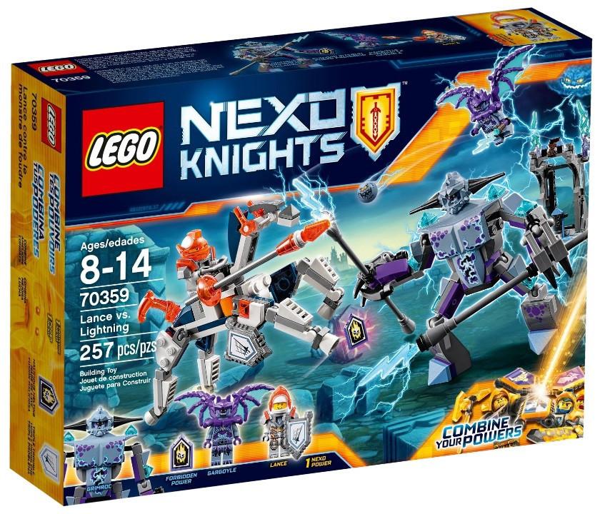 Lego Nexo Knights Ланс против Монстра-молнии 70359