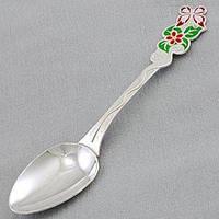 """Серебряная десертная ложка для ребенка """"Лето"""" Арт.ХЮ-566"""