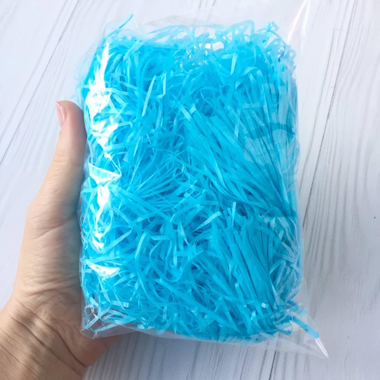 Наполнитель для коробок- голубой (бумажный)