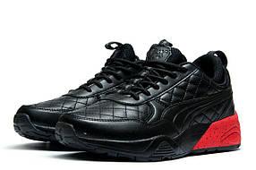 Кроссовки мужские Puma TRINOMIC, черные (1058-1),  [  45 (последняя пара)  ]