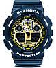 Спортивные наручные часы Casio G-Shock ga-100 Black-Gold Касио реплика, фото 3