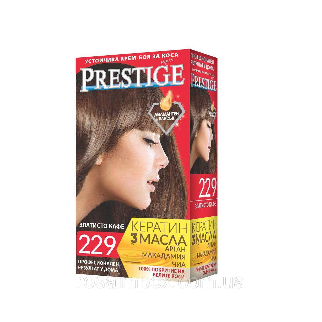Стойкая крем краска Prestige №229 Золотистый Кофе