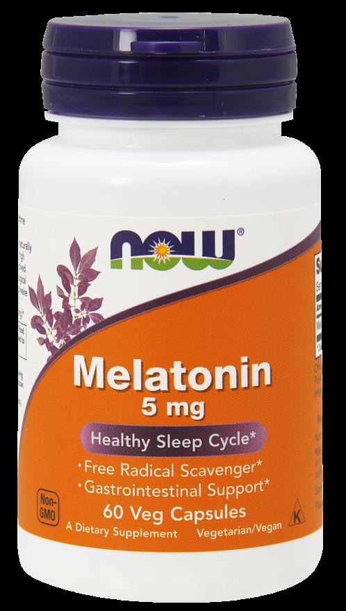 Now Melatonin 5 mg 60 veg caps