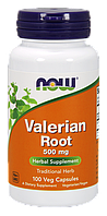 Корень валерьяны Now Valerian Root 500 mg 100 veg caps