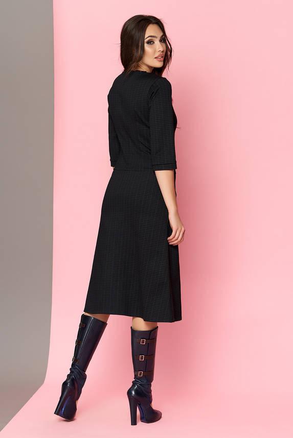 Теплое платье черное трикотажное , фото 2