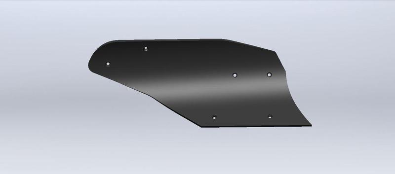 Крыло отвала для плуга ПЛН 3-3,5 (5,35) под металлическую грудь из Текrоne(цилиндрического/полувинтового)