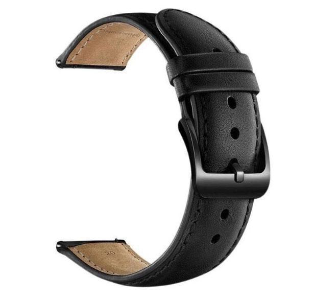 Кожаный ремешок для часов Samsung Galaxy Watch 42 mm (SM-R810) - Black