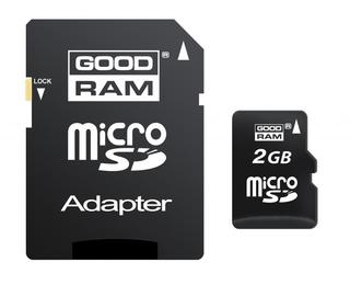 Карта памяти micro SD на 2Gb GooDRaM + SD адаптер, фото 2