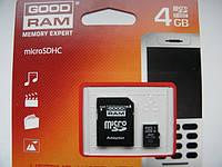 Карта памяти micro SD на 4Gb goodram