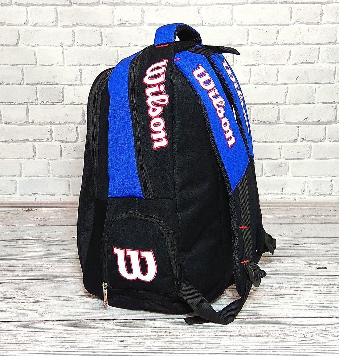 388e7f733d31 Вместительный рюкзак Wilson для школы, спорта. Черный с синим., цена 345,95  грн., купить Ивано-Франківськ — Prom.ua (ID#781352042)