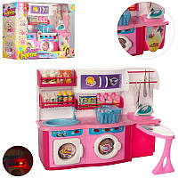 Мебель для куклы2802LN, прачечная 36-27-9см, утюг, гладильная доска, звук, свет, на бат-ке
