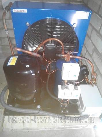 Низкотемпературный холодильный агрегат R404a/R507 , 3282 Вт. холод. (380 V) , фото 2