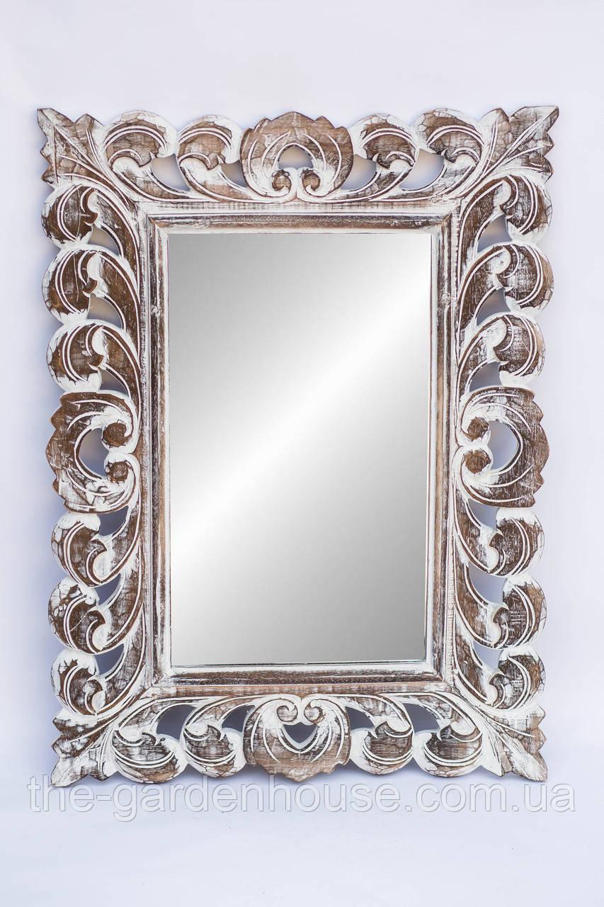 Дзеркало Ajur 80х60 см, різьблене