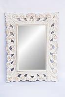 Зеркало Ajur 80х60 см, белое