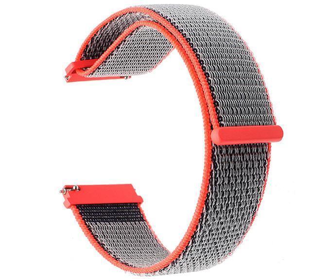 Нейлоновый ремешок для часов Samsung Galaxy Watch 46 mm SM-R800 - Neon Red