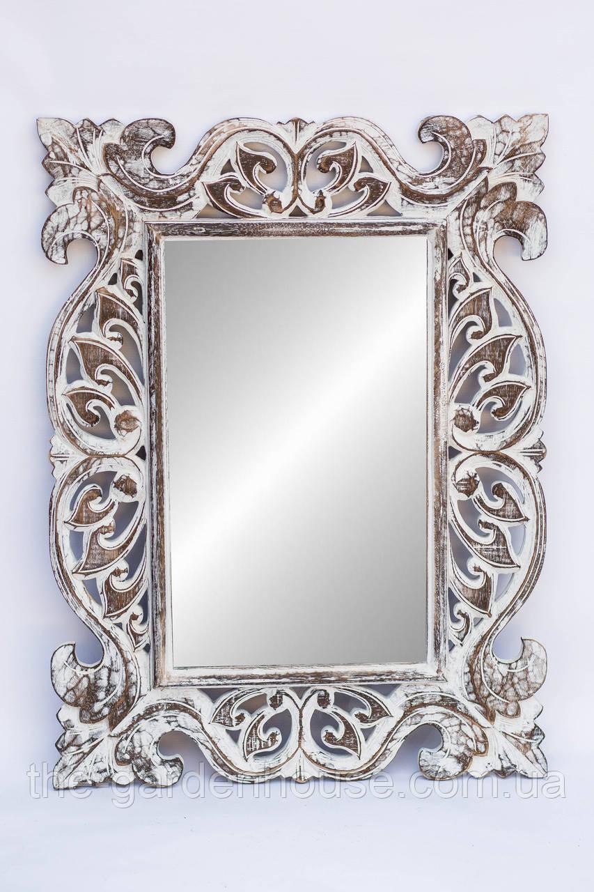 Зеркало Ajur 80х60 см, коричневый