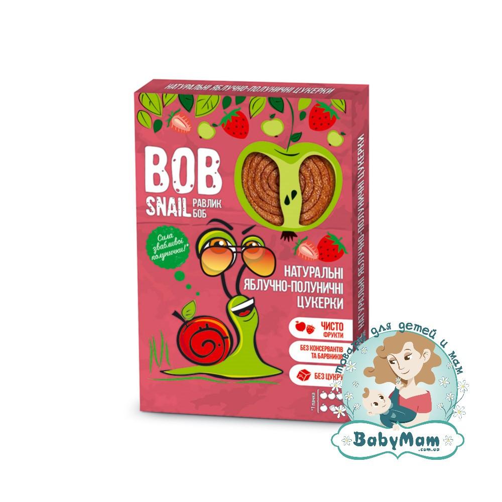 Конфеты натуральные Bob Snail (Равлик Боб) Яблочно-Клубничные, 60гр