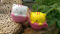 Squishy Кот в чашке сквиши антистресс