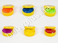 Жвачка для рук, 6 цветов, глазки, 50г, баночка с крышкой, 12шт в дисплее (цена за 1шт)