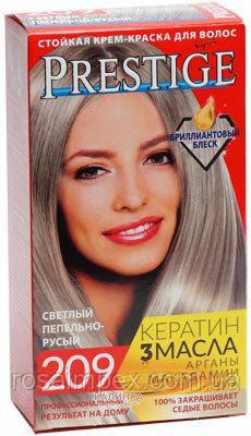 Стойкая крем краска Prestige №209 Светлый Пепельно-русый