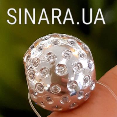 Срібний родированный шарм Пандори Небо в алмазах