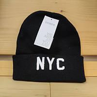 Шапка - Terranova - Надпись буквы NYC New York черная (Зимняя Зимова шапка) bc1f1ab1c37cc