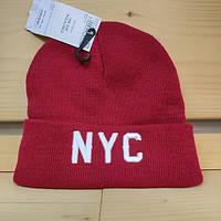 Шапка - Terranova - Надпись буквы NYC New York красная (Зимняя Зимова шапка) 16108d1e60d8c