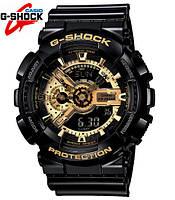 Мужские Электронные Японские Наручные Спортивные часы Sport watch Casio G-Shock GA 110 Gold копия