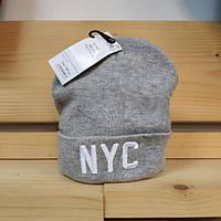 Шапка - Terranova - Надпись буквы NYC New York серая (Зимняя Зимова шапка) f336aed8b5b99