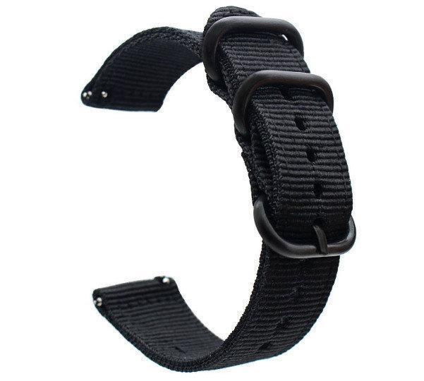 Нейлоновый ремешок Primo Traveller для часов Samsung Galaxy Watch 46 mm SM-R800 - Black