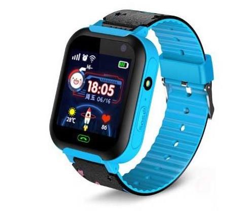 Детские умные часы SUNROZ A25S смарт-часы GPS LBS Голубой (SUN2042)