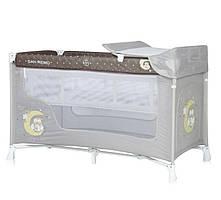 Кровать - манеж SAN REMO 2 LAYERS BEIGE BUHO