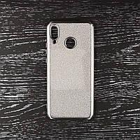 Чехол накладка для Huawei P Smart Plus   Nova 3i силиконовый, Remax Case GLITTER, Серебристый