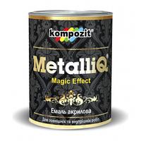 Декоративная эмаль акриловая METALLIQ (бронза) 0,9 кг