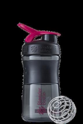 Спортивная бутылка-шейкер BlenderBottle SportMixer 590ml Black/Pink (ORIGINAL) , фото 2