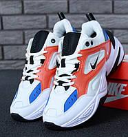 Мужские кроссовки Nike M2K Tekno Summit White/Black/Team Orange . Живое фото. Топ реплика ААА+