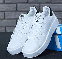Женские кроссовки Adidas Stan Smith Bold. Живое фото. Топ качество (Реплика ААА+)