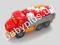 Машина Атлантис бортовая №3 с конструктором беби-блок (4 цвета). Colorplast 1715