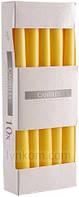 Свечи пасхальная желтая 24,5 см (10шт)