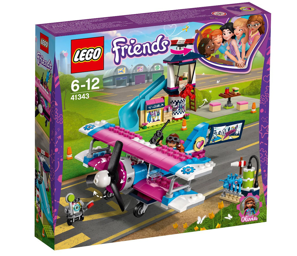 Lego Friends Экскурсия по Хартлейк-Сити на самолёте 41343