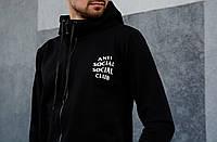 Спортивний костюм чоловічий Anti Social Club. Топ репліка. Живе фото, фото 1