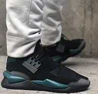 Кроссовки Adidas Y-3 Qasa x Kaiwa Chunky black green. Живое фото. Топ качество (Реплика ААА+)