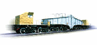 Транспортер железнодорожный сочлененного типа грузоподъемностью 240 т