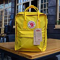 Рюкзак Канкен Fjallraven Kanken Classic Bag yellow. Живое фото. Качество Топ! (Реплика ААА+)