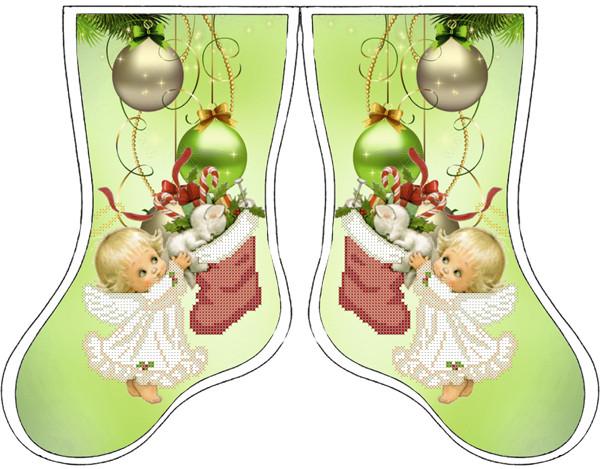 Набір для вишивання бісером Новорічний чобіток. СКВ-145ч