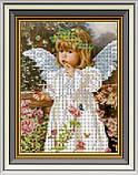 Набір для вишивки бісером Дівчинка-ангелочок. Арт. СД-225ч, фото 2